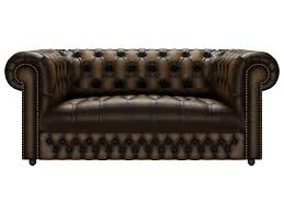 2 Seater Fabric Chesterfield Sofa by Chesterfield Button Seat Genuine Leather Antique Blue 2 Seater Sofa