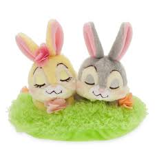 stuffed bunnies for easter thumper and miss bunny plush easter basket set mini shopdisney