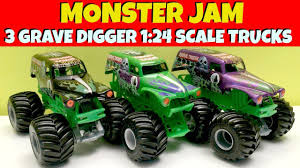 grave digger monster truck videos youtube 3 monster jam grave digger 1 24 scale trucks youtube