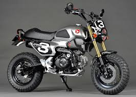 custom 2016 honda grom scrambler concept one u0026 two motorcycle