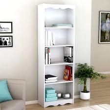 Narrow Black Bookcase Thin Bookcase 6 Shelves Sakuraclinic Co