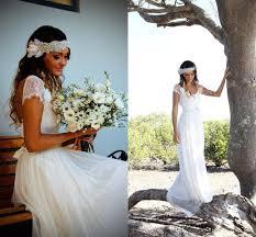 ivory lace wedding dress discount boho vintage ivory lace wedding dresses 2017 capped