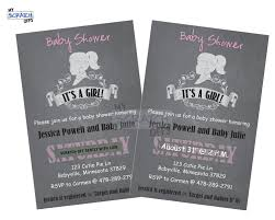 chalkboard baby shower scratch off invitation with custom