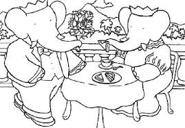 king babar cartoon coloring pages kids cartoon coloring