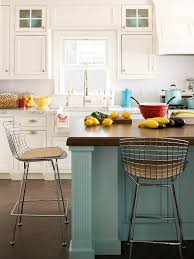 Traditional Kitchen Stools - blue kitchen design ideas kitchens metal stool and stools