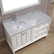studio bathe lily 55 in vanity in white with marble vanity top in