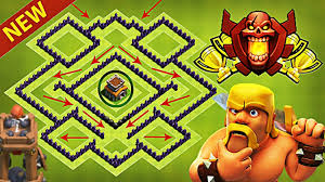 coc layout builder th8 new best town hall 8 th8 trophy base design with bomb tower