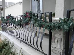 Christmas Fence Decorations Christmas Front Porch Organize And Decorate Everything