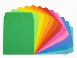card pockets 30 brightly colored paper stock library card pockets w plain back