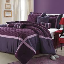 Purple Bedroom Decor by Romance Bed 5 Pc Comforter Set Collection White Purple Red And