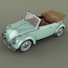 volkswagen beetle volkswagen beetle cabrio 3d model cgtrader