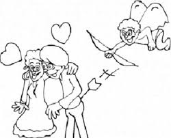 cupid love couple coloring pages free coloring pages