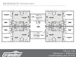 floor 4 plex floor plans