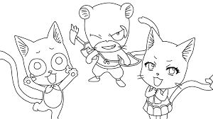 happy fairy tail anime coloring pages sketch coloring page