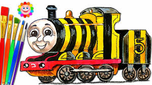 how to draw thomas and friends coloring pages james train video