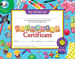 preschool certificates preschool certificate end of year