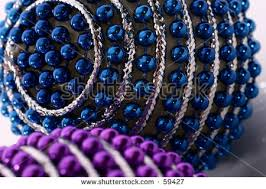 selection traditional colorful praying chain stock photo