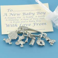 new baby boy charms for christening gifts by multiply design