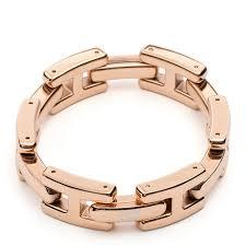 rose gold link bracelet images Tommy hilfiger h link bracelet rose gold yellow orange jpg