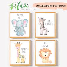 safari nursery decor safari nursery wall art print set of 4