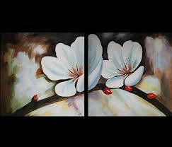 amazon com original feng shui abstract art yin yang flower oil