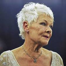 judi dench hairstyle front and back of head dame judi mature women with style pinterest judi dench