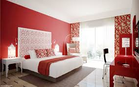 Red And Brown Bedroom Bedroom Red And Black Bedroom Walls Hard Wood Flooring Sky Blue