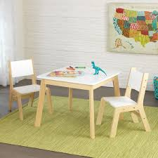 Kidkraft Lounge Chair Kidkraft 3 Piece White And Natural Modern Table And Chair Set