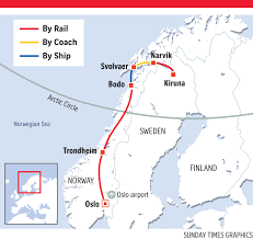 Arctic Circle Map Journey By Train And Ship To The Arctic Circle Travel News U0026 Top