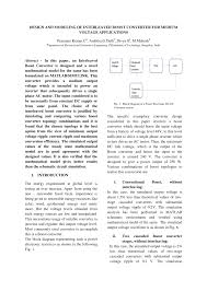 design and modeling of interleaved boost converter for medium