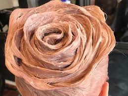 rose gold hair color rose gold hair shaped like a rose is going viral insider