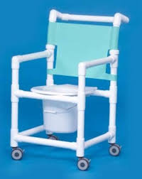 Commode Chair Over Toilet Pvc Shower Commode Chair With Mesh Backrest By Mckesson