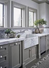 gray kitchen ideas tour a home that checks all our favorite design trend boxes gray