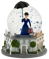 poppins the broadway musical snow globe with box
