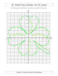thanksgiving coordinate graphing picture worksheets st patrick u0027s day cartesian art shamrock