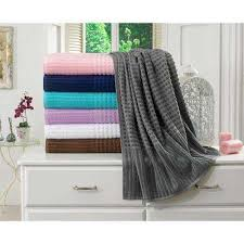 Luxurious Grey Seafoam Jacquard Waffle Gray Bath Towels Bedding U0026 Bath The Home Depot