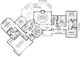 split bedroom floor plan angled split bedroom ranch 3866ja 1st floor master suite cad
