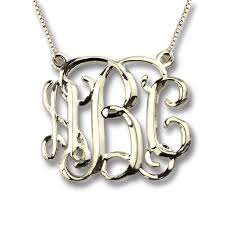 initials jewelry three dimensional monogram name necklace personalized necklace