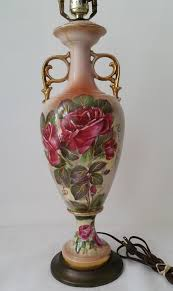 Antique Porcelain Table Lamps Victoria Antique French Hand Painted Floral Porcelain Table Lamps