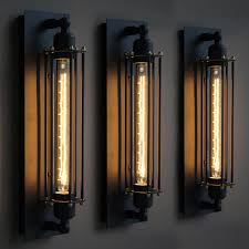 Vintage Outdoor Lights Miraculous Outdoor Light Sconces In Vintage Industrial Edison Wall