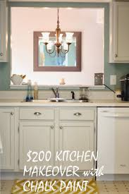Paint Kitchen Ideas Chalk Paint Kitchen Cabinets With Maison Blanche In Silver Mink