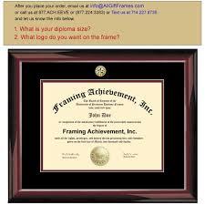 14x17 diploma frame degree frame college major seal logos glossy mahogany top