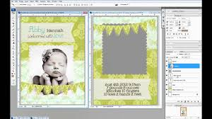 how to design invitation card in photoshop create 5x7 photo cards in photoshop youtube