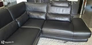 canapé d angle chateau d ax canapé d angle en cuir noir château d ax bertrange meubles