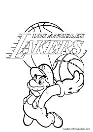 nba lakers coloring pages los angeles lakers coloring pages la lakers coloring pages metello