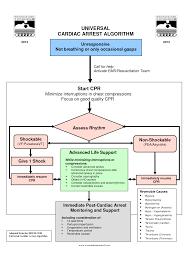 universal cardiac arrest algorithm cardiac nursing pinterest