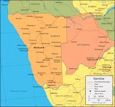 africa map kalahari desert namibia map and satellite image