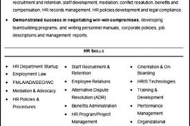 Hr Generalist Resume Samples by Senior Hr Generalist Resume Reentrycorps