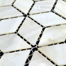 Mirrored Bathroom Wall Tiles - wholesale natural white shell tiles diamond mother of pearl mosaic