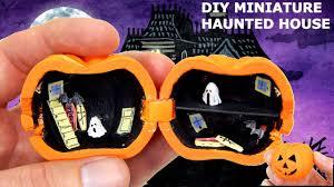 miniature haunted house tutorial diy dolls dollhouse youtube